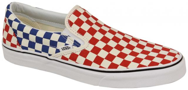Vans Classic Slip On Shoe - Checkerboard Red   Blue For Sale at ... 769953074