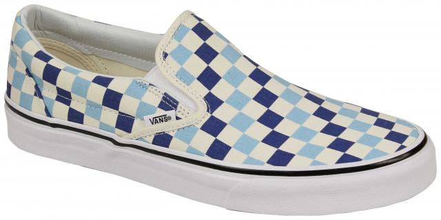 2d597bbd80ab10 Vans Classic Slip On Shoe - Checkerboard Blue Topaz For Sale at  Surfboards.com (4714495)