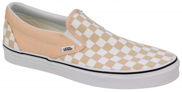 Vans Classic Slip On Shoe - Checkerboard Bleached Apricot