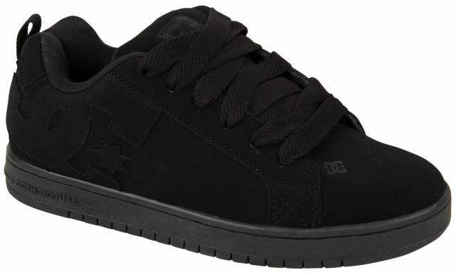 DC Court Graffik Shoe - Black / Black / Black