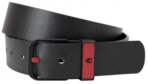 Nixon Enamel Camden Belt - Black / Dark Red
