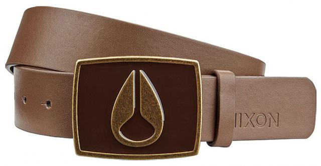 Nixon Enamel Icon II Belt - Dark Brown