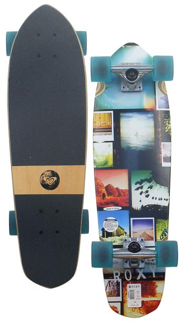 Roxy Remember Me Longboard Skateboard - Green