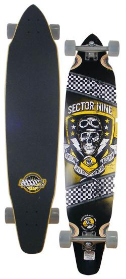 Sector 9 Co-Pilot Longboard Skateboard - Yellow
