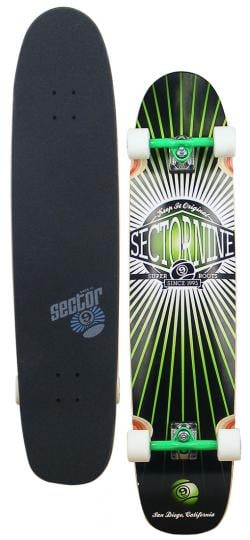Sector 9 Cloud 9 Longboard Skateboard - Green