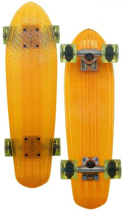 Globe Bantam Longboard - Orange / Raw / Lime