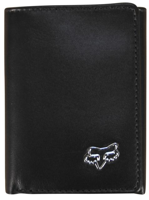 Fox Leather Trifold Wallet - Black