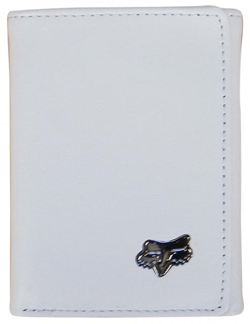 Fox Leather Trifold Wallet - White