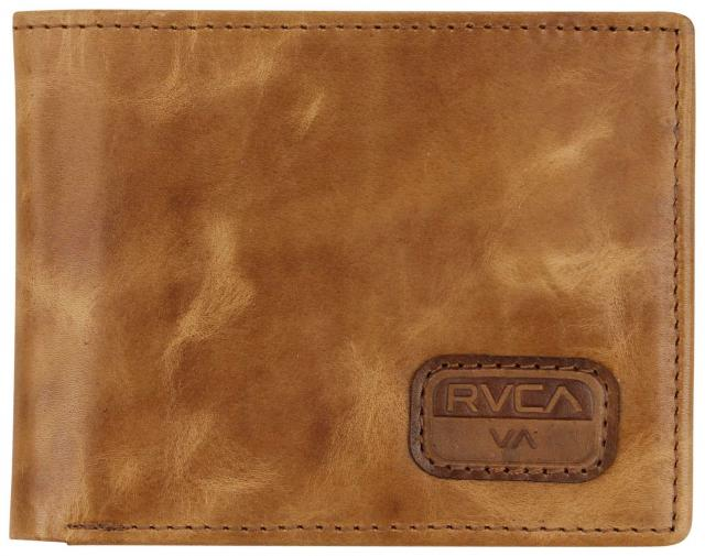 RVCA Dispatch Leather Wallet - Light Brown