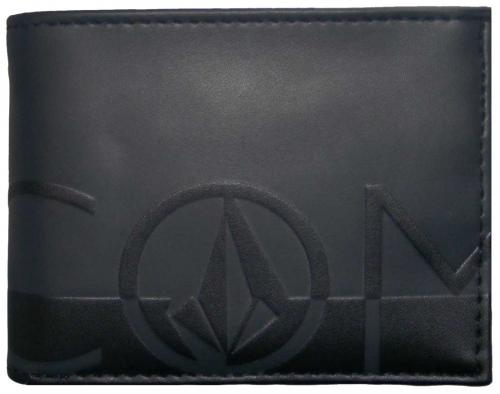 Volcom One Two Three Wallet - Black on Black