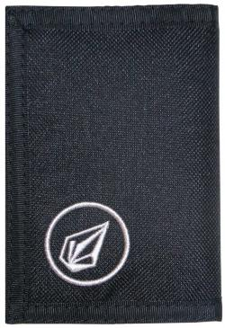 Volcom Circle Cloth 3F Wallet - Black / Black