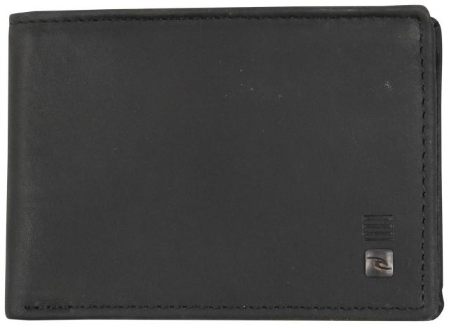 Rip Curl Sequence Slim Leather Wallet - Black