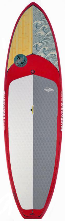 Boardworks Kraken SUP Board - Wood / Red