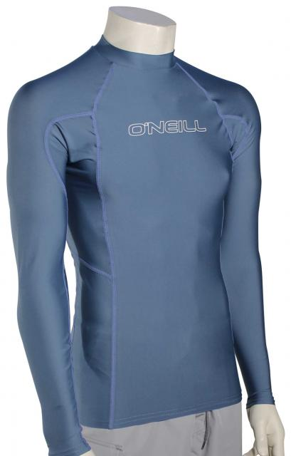 O'Neill Basic Skins LS Rash Guard - Dusty Blue