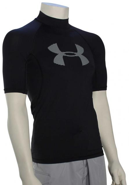 Under Armour Ames SS Rash Guard - Black / Amalgam Grey