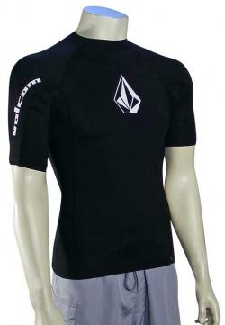 Volcom Solid SS Rash Guard - Black