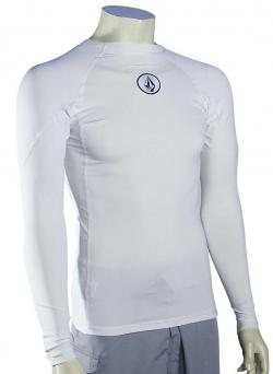 Volcom Solid LS Rash Guard - New White