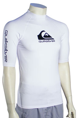 Quiksilver Lo-Pro SS Rash Guard - White