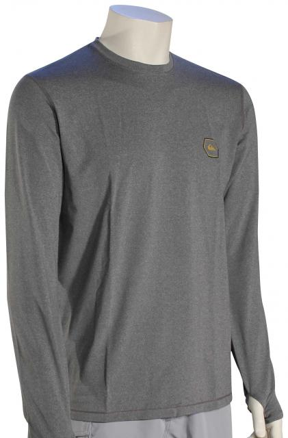 Quiksilver Amphibian Mountain and Wave LS Surf Shirt - Tarmac Heather