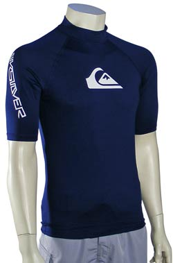 Zoom for Quiksilver Rock Steady SS Rash Guard - Navy