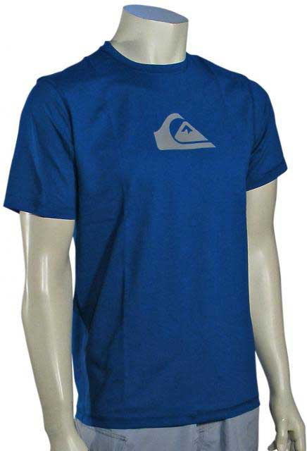 Zoom for Quiksilver Solid Streak SS Surf Shirt - Royal
