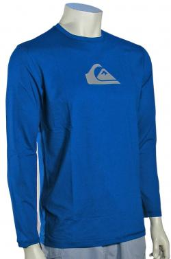 Zoom for Quiksilver Solid Streak LS Surf Shirt - Royal