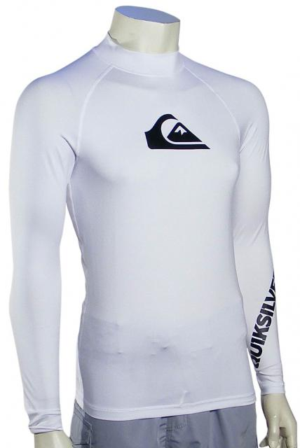 Quiksilver All Time LS Rash Guard - White