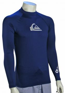 Quiksilver All Time LS Rash Guard - Navy