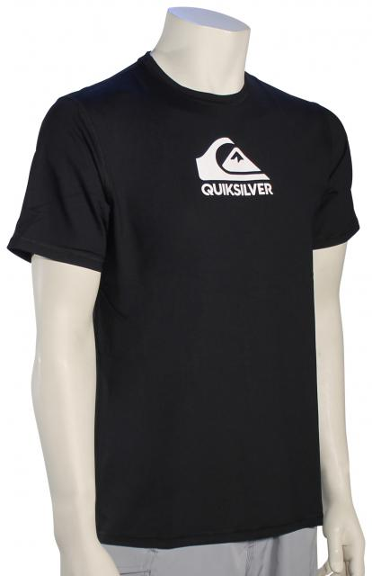 Quiksilver Solid Streak SS Surf Shirt - Black / White