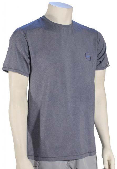 Quiksilver Amphibian Mountain and Wave SS Surf Shirt - Medieval Blue