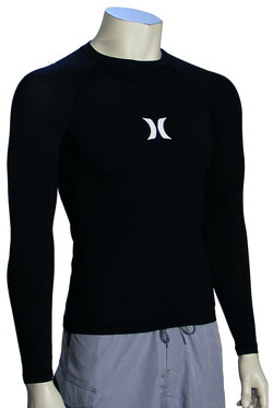 Hurley One & Only LS Rash Guard - Classic Black