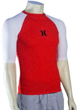 Hurley One & Only SS Rash Guard - Redline