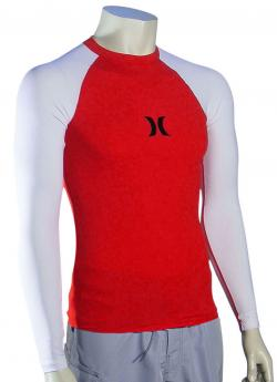 Hurley One & Only LS Rash Guard - Redline