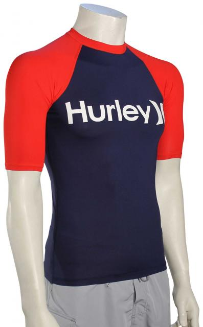 Hurley One & Only SS Rash Guard - Midnight Navy