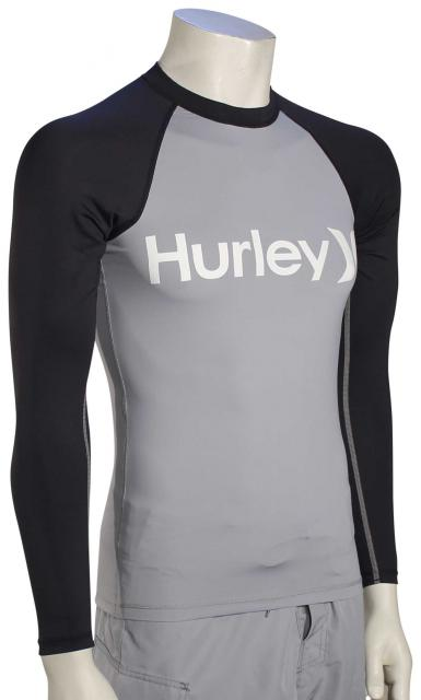 Hurley One & Only LS Rash Guard - Wolf Grey