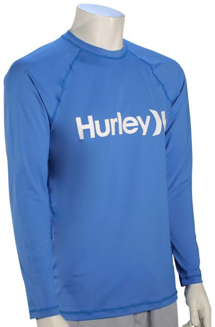 Hurley One and Only LS Surf Shirt - Light Photo Blue