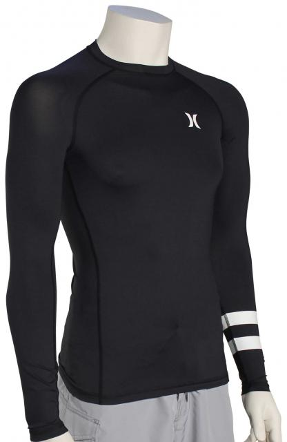 Hurley Pro Light Top LS Rash Guard - Black