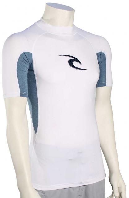 Rip Curl Wave SS Rash Guard - White