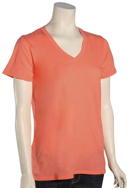Hurley Staple Perfect V-Neck Women's T-Shirt - Hot Punch