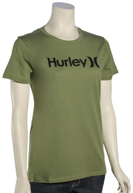 Hurley One and Only Perfect Crew Women's T-Shirt - Palm Green