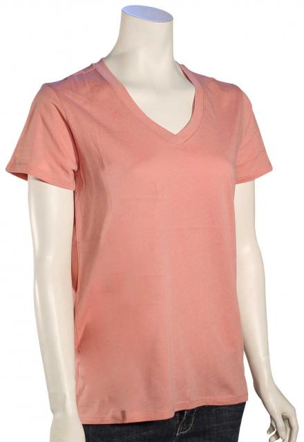 Hurley Staple Perfect V-Neck Women's T-Shirt - Red Stardust