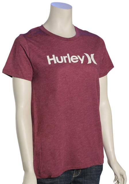 Hurley One and Only Perfect Crew Women's T-Shirt - Teaberry Heather