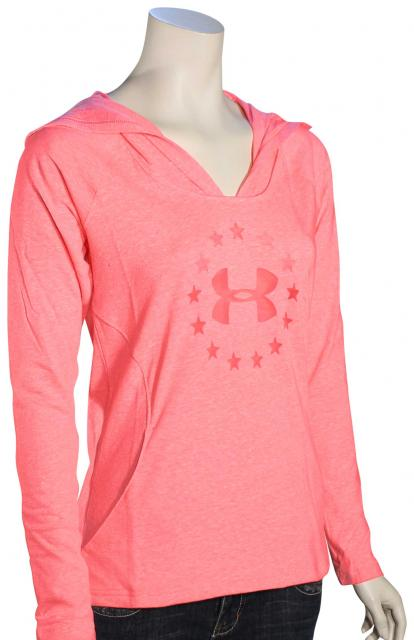 Under Armour Freedom Triblend Women's Hoody - Harmony Red / Navy Seal