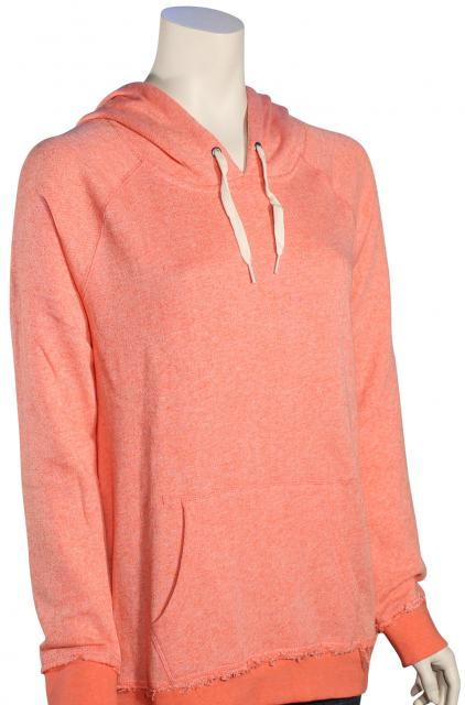 Volcom Lived In Women's Pullover Hoody - Electric Coral