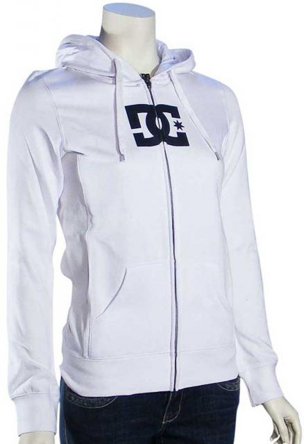 DC T-Star Women's Zip Hoody - White