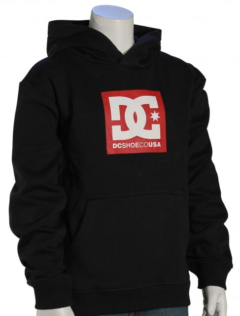 DC Boy's Square Star Pullover Hoody - Black