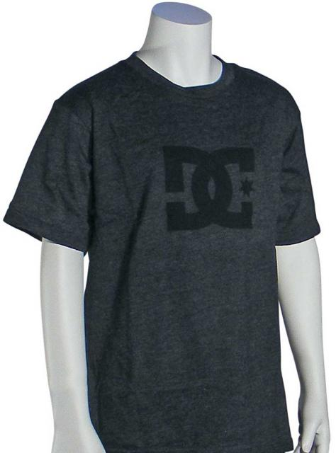 DC Boy's Star T-Shirt - Heather Charcoal