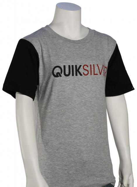 Quiksilver Boy's Frontline T-Shirt - Athletic Heather
