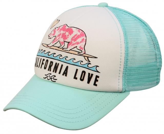 Billabong Girl's Pitstop Trucker Hat - Beach Glass