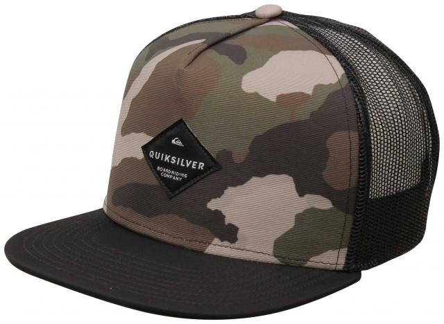 Quiksilver Boy's Brillings Trucker Hat - Camo